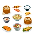 Asian Food Set vector image