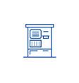 atm machine line icon concept atm machine flat vector image