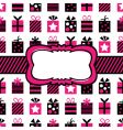 black and pink gift wrapping vector image vector image