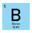 boron icon vector image vector image