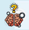 brain creative idea questions work vector image vector image