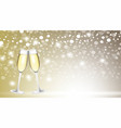 champagne glasses on blurred background vector image vector image