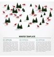 Christmas winter infographics background snowy vector image vector image