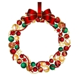 Christmas wreath decoration from Christmas Balls vector image vector image