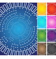 circle space technology background theme color set vector image vector image