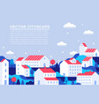 city buildings landing page town apartment banner vector image
