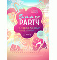 colorful summer disco party poster vector image vector image