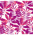 concept tropical leaves seamless pattern vector image vector image