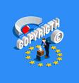 copyright european vector image vector image