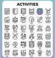 daily activities concept detailed line icons vector image vector image