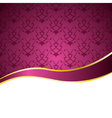 decorative background with a pattern and a ribbon vector image vector image