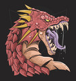 dragon head red vector image