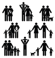 Family silhouette collection vector image vector image