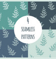 fern seamless pattern set vector image vector image