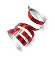 festive ribbon on white background vector image vector image