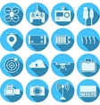 Flat icons for quadrocopter set vector image vector image