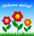 Flowers on field - Spring design vector image vector image