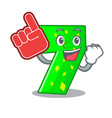 foam finger number seven isolated on the mascot vector image
