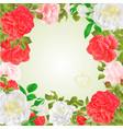 frame floral border festive background vector image
