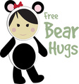 Free Bear Hugs vector image vector image