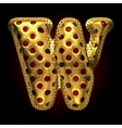 golden and red letter w vector image vector image