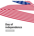 happy independence day blue and red color curly vector image vector image