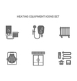 heating equipment icons vector image vector image
