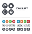 Information icons Question FAQ symbol vector image vector image