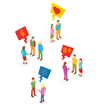 Isometric People collection vector image vector image