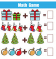 math educational game for children counting vector image vector image
