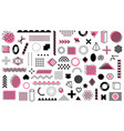mega pack memphis geometric shapes isolated vector image