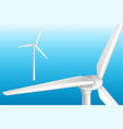 modern wind turbine on tower 3d realistic vector image