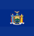 new york state flag vector image vector image