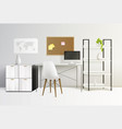 office interior realistic composition vector image