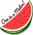 One Melon vector image vector image