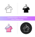 one shoulder t shirt icon vector image vector image