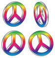 peace signs vector image