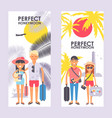 perfect honeymoon trip advertisement vector image