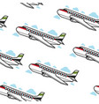 plane seamless pattern airplane and flight vector image