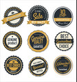premium quality retro badge collection vector image vector image