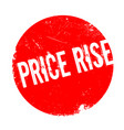 price rise rubber stamp vector image