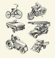 retro toys drawn vector image