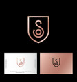 s and o letter monogram web business card vector image vector image