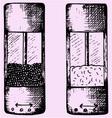 Salt pepper grinders vector image vector image
