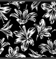seamless floral pattern with amaryllis vector image
