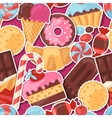 Seamless pattern colorful sticker candy sweets and vector image vector image