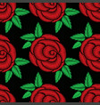 seamless pattern of red rose vector image vector image