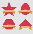 set badge ribbon and labels vector image vector image