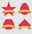 Set of Badge Ribbon and Labels vector image vector image