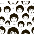 Set of Character Lip-Sync pattern vector image vector image